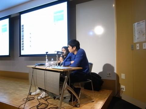 第3部、名和晃平氏(アーティスト、写真右)と 石上純也氏(建築家)
