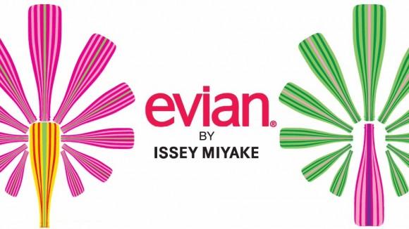 エビアンとISSEY MIYAKEのコラボレーションボトルが発売