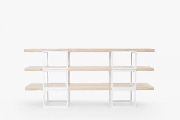 高さの組み替えをシンプルかつ自由にしたシェルフドリルデザイン「A4×A5 shelf」