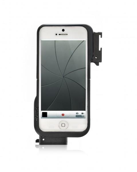 撮影スタイルの拡張をサポート マンフロット「KLYP(クリップ)iPhone 5用ケース」