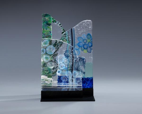 「岩瀬明子 ホットワーク/キルンワーク」 ーー富山ガラス作家協会展2014より