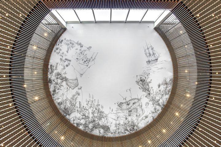 シェークスピア「テンペスト」をオーストラリアの歴史と重ねる パース市立図書館の天井画