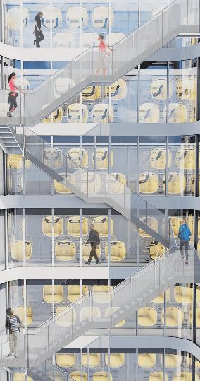 ランニングステーションにもなるカプセルホテル 「ナインアワーズ竹橋」が2018年3月30日(金)オープン