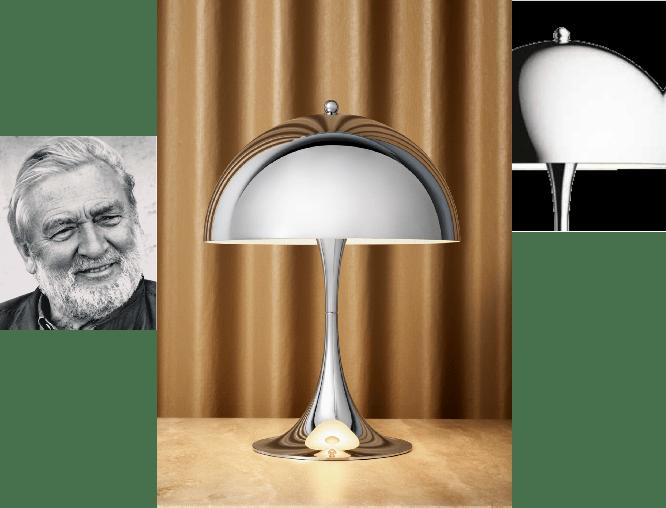 ヴァーナー・パントンの名作テーブルランプ「パンテラ」 そのミニ版にクローム仕上げのモデルが登場