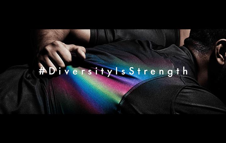 世界初!TBWA\HAKUHODOが黒からレインボーへと変わる特殊な生地を開発 AIGのメッセージ「DIVERSITY IS STR…