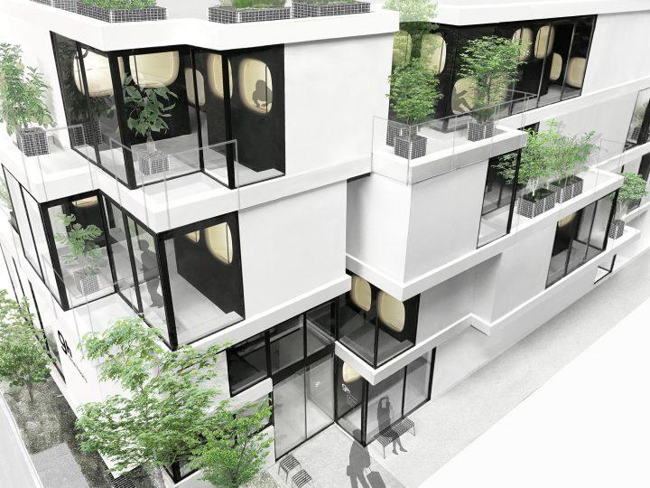 カプセルホテル「ナインアワーズ赤坂」5月10日(木)オープン!