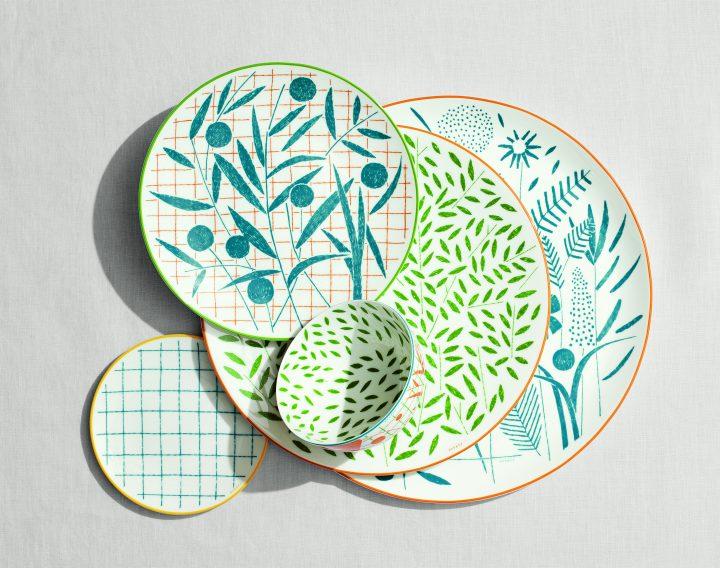 エルメスがナイジェル・ピークのデザインによる新作テーブルウエア 「ウォーク イン ザ ガーデン」を発売