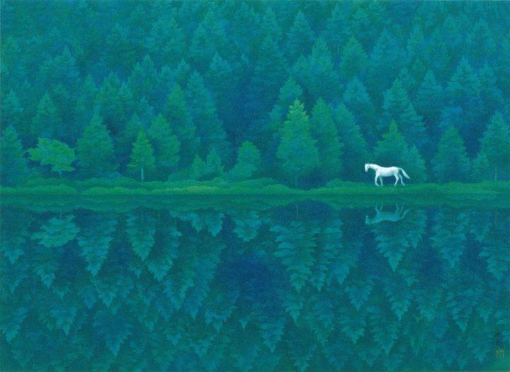 東山魁夷ら信州にゆかりの画家の展覧会「描くこと この地との出会い」 茅野市美術館にて2018年7月28日(…