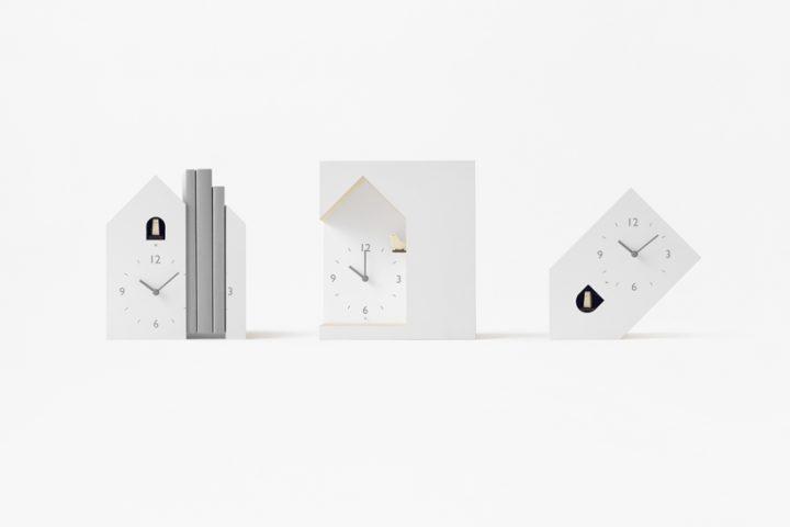 nendoが3種の鳩時計「cuckoo-collection」を発表 どこか少しずつ「間違っている」デザインで