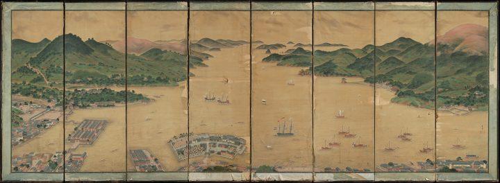 江戸時代後期の絵師・川原慶賀の傑作屏風作品「長崎湾の出島の風景」が発見 オランダ・ライデン国立民族学…