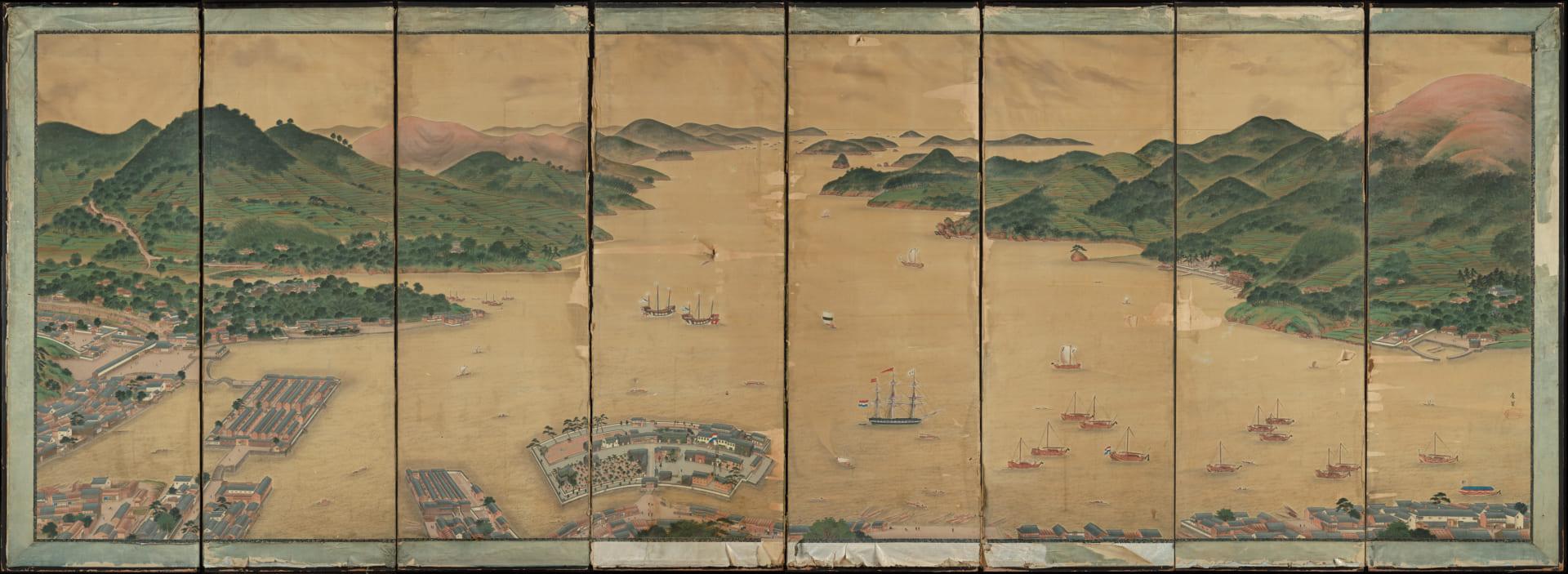 江戸時代後期の絵師・川原慶賀の傑作屏風作品「長崎湾の出島の風景」が発見オランダ・ライデン国立民族学博物館で約2週間の特別一般公開