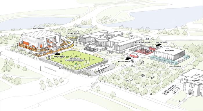 NYのオルブライト=ノックス美術館の拡張プロジェクト 建築設計事務所OMAの重松象平氏による基本デザインが…