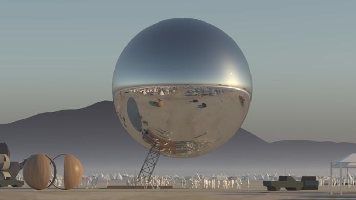 ビャルケ・インゲルス・グループによる巨大球体アート作品「The ORB」 アメリカ・ネバタ州の野外イベント…