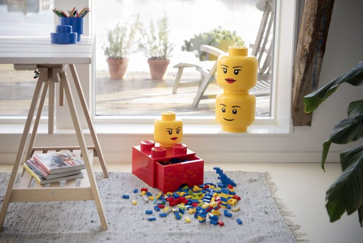 LEGO(R) フィギュアの顔型収納ボックス「ストレージヘッド」 2018年7月上旬から再販売が開始!