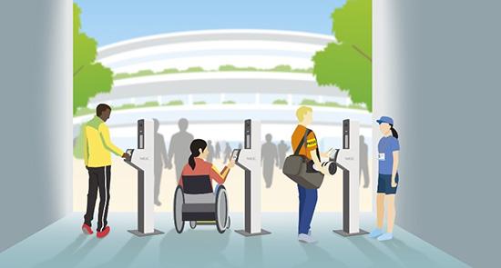 東京2020オリンピック・パラリンピック会場での本人確認 NECの顔認証システムを採用