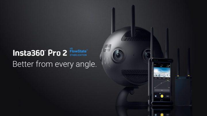 8Kで360°動画撮影できるプロ向けVRカメラ 「Insta360 Pro 2」が登場
