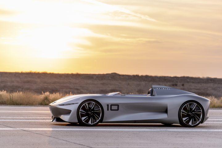 日産の高級車ブランドがコンセプトカー「INFINITI Prototype 10」発表 往年のスピードスターの精神と電動…