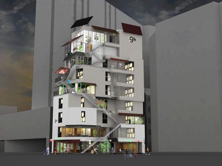 平田晃久が設計した「ナインアワーズ浅草」が2018年9月21日(金)開業 店内にはオスロのカフェ「FUGLEN」…