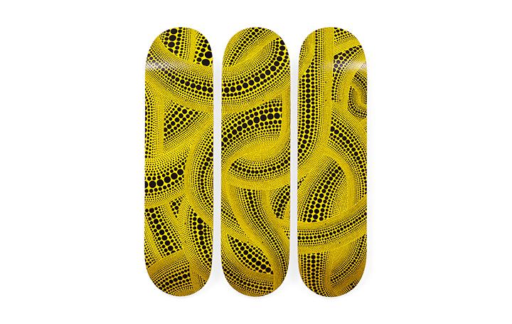 MoMA Design Storeから草間彌生の水玉模様モチーフのスケートボードが登場