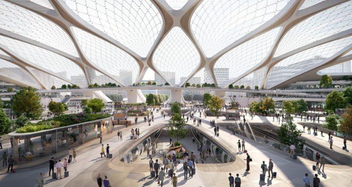 建築事務所UNStudioが「Hardt HyperLoop Hubs」のデザインを発表 超高速輸送システムの実現に向けた第一歩
