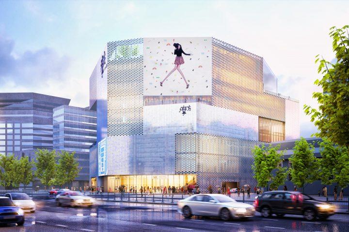 オランダの建築家集団・MVRDVが北京のショッピングセンター 「KWG・M・CUBE」の外装を担当