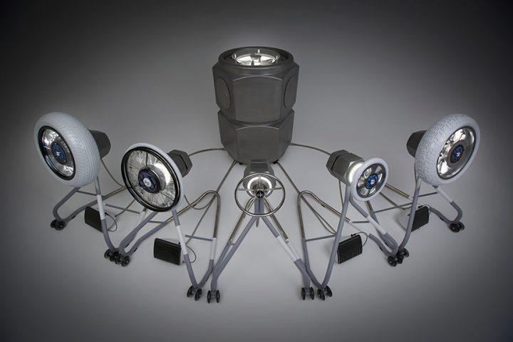 乗り物のパーツによって構成された演奏装置「&Y03」が初披露 ヤマハ、ヤマハ発動機が合同デザインイ…