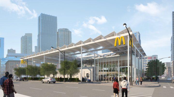 マクドナルドのグローバルフラッグシップがシカゴに建設中 敷地の43%をオープンスペースとして活用