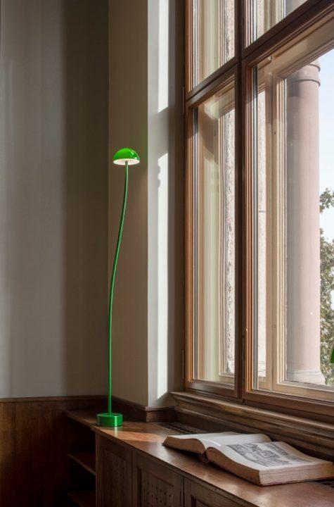 新生スウェーデン国立美術館で使われる緑色のクラークスランプ デザインは地元ストックホルムのFrontが担当