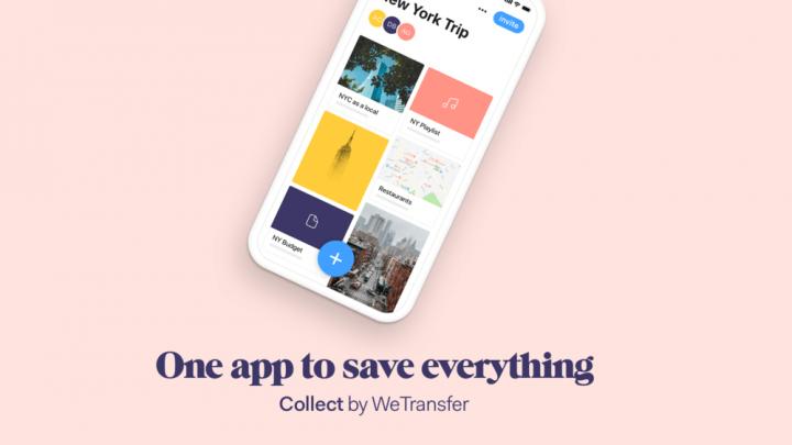 アムステルダムのWeTransferが提供するモバイルアプリ 「Collect by WeTransfer」が再始動
