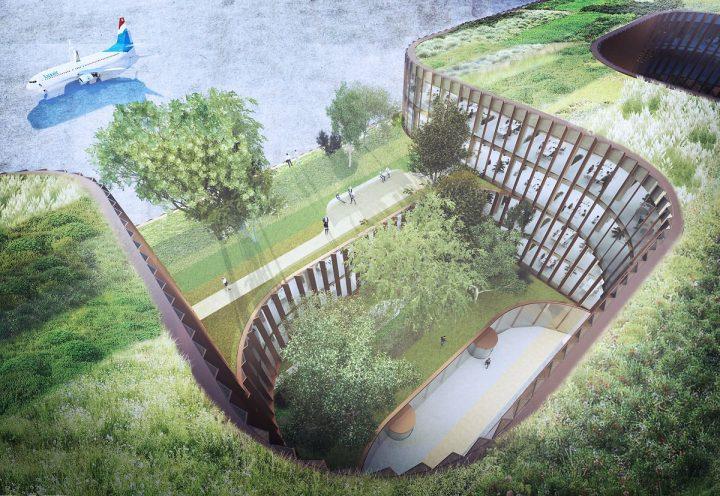 ビャルケ・インゲルスが主宰するBIG ルクセンブルク空港に新設の複合施設の設計案を発表 「Skypark Busine…
