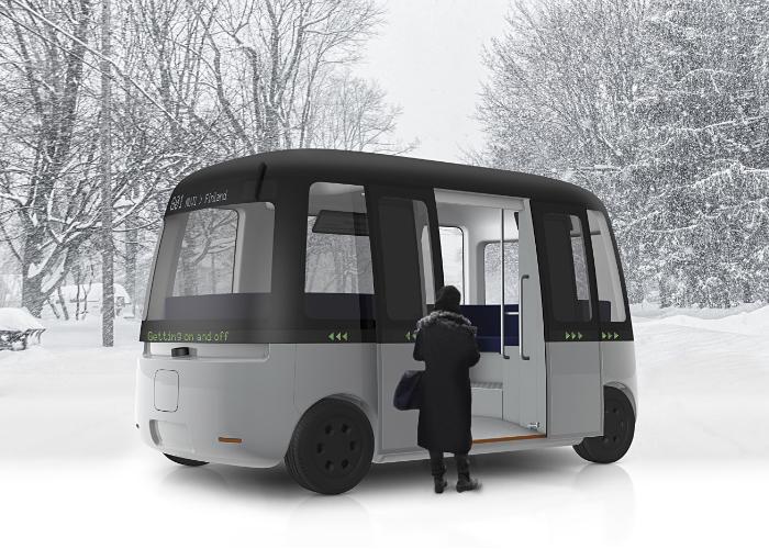 良品計画がフィンランドの「Gachaシャトルバス」の車体デザインを担当 全天候型の自動運転バスとして2020…
