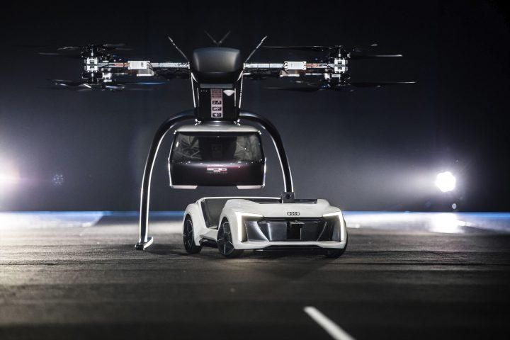 Audi・Airbus・Italdesignが開発する コンセプト・ドローンタクシー「Pop.Up Next」 プロトタイプの飛行テ…