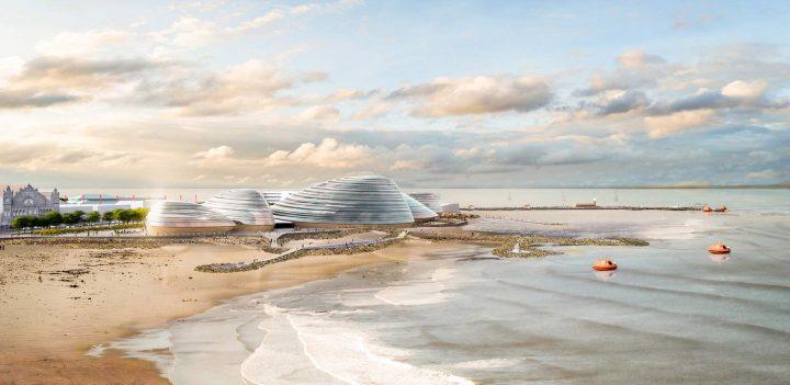 Grimshaw Architectsの新プロジェクト「Eden Project North」 ムラサキイガイの形状に着想を得たパビリオ…