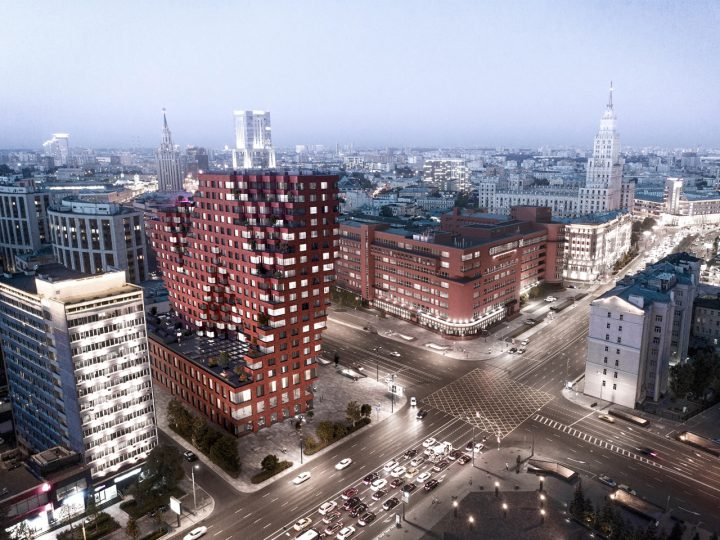 MVRDV初のロシアでの建築プロジェクト「RED7」 赤レンガを用いた近隣の構成主義建築をモチーフに