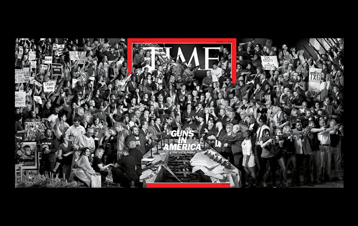 TIME誌とアーティスト・JRが共同プロジェクト 「GUNS IN AMERICA」を発表 アメリカの銃問題を正面から見据…