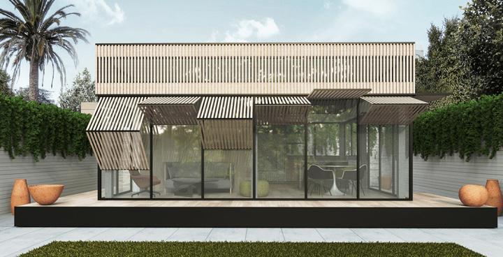 イヴ・ベアールが「livinghomes yb1」を発表 カリフォルニア州でスモールリビングを提供する住宅シリーズ