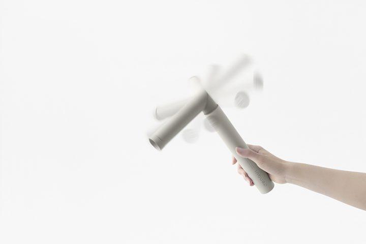 nendoが杉田エース「denqul」のデザインを担当 振り回して充電できる災害時用の発電式モバイルバッテリー