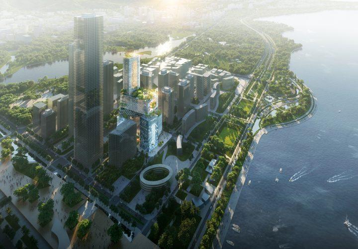 建築事務所 MVRDVが設計した 中国・深圳の高層建築「Vanke 3D City」