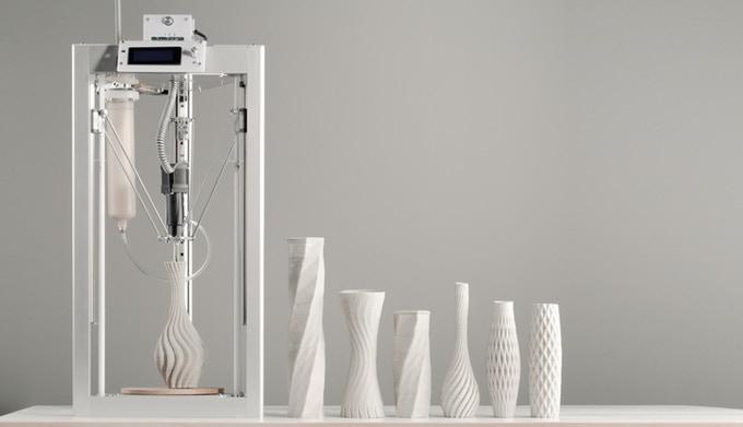 誰でも簡単に陶芸家になれる!? 手ごろな価格の陶芸用3Dプリンタ「CERAMBOT」登場