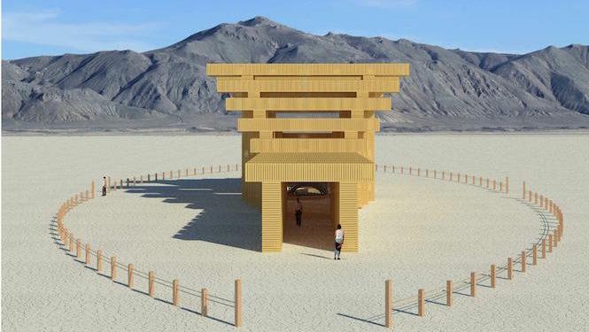バーニングマン2019の象徴となる建造物が発表 伏見稲荷神社の鳥居がモチーフ