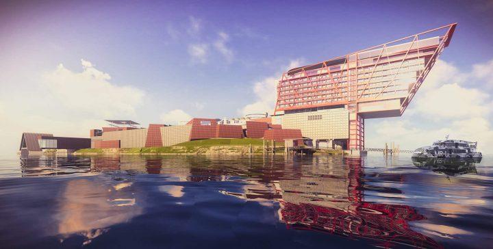 タスマニア島の美術館 Monaが手がける 5つ星ホテル「Motown」の設計案が公開