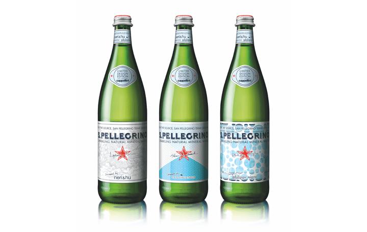 サンペレグリノからネリ&フーら3組のデザイナーによる限定ボトルが登場 イタリア「カッペリーニ社」監修で