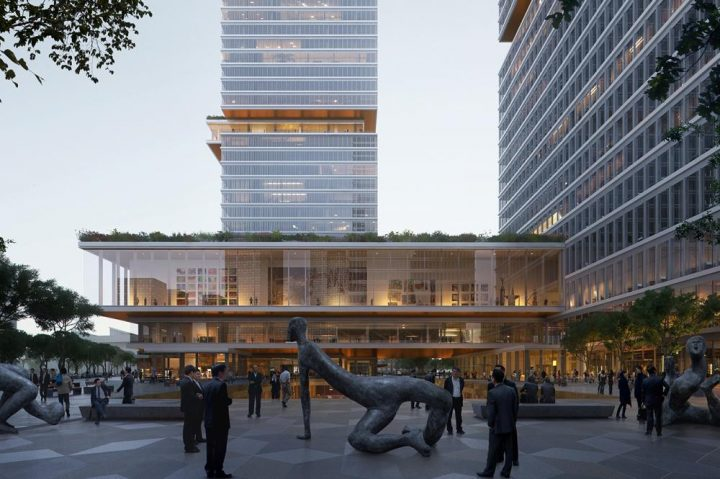 建築設計事務所 KPFが上海に設計した「Huamu Lot 10」 自然と芸術が体験できる都市建築