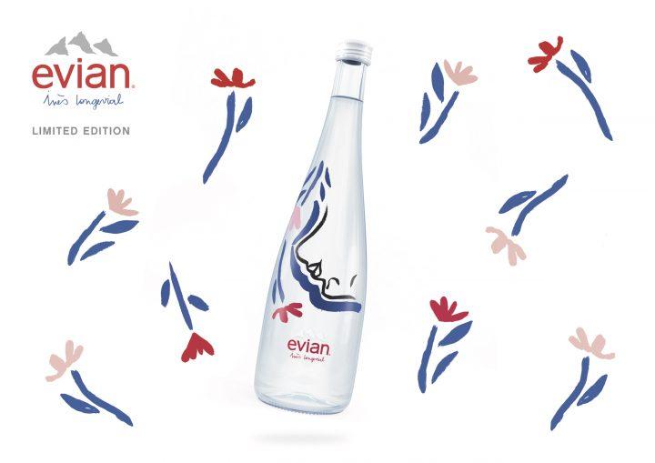 evian®とイネス・ロンジェビアルがコラボ 新しい750ml限定デザインボトルが発売