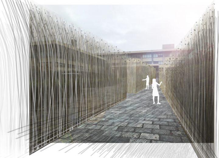 風を視覚化した大規模野外インスタレーション 「Kyoto Urban Wind Installation」が京都・北山で開催