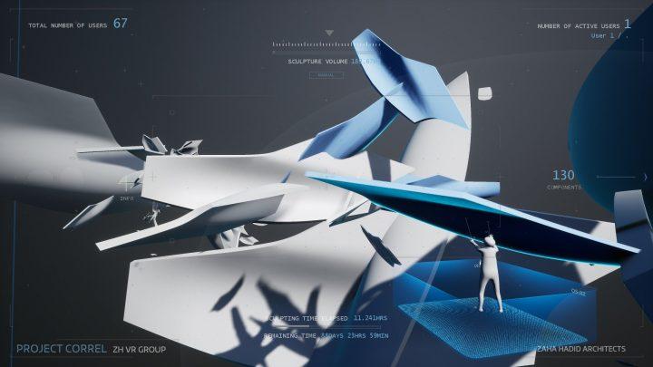 Zaha Hadid Virtual Reality Groupが取り組む 建築デザイン向け没⼊型VR技術「Project Correl」