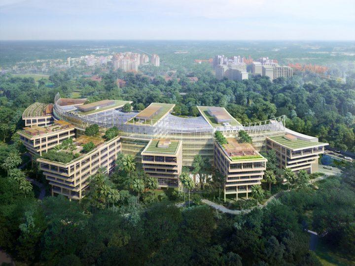 Safdie Architectsがシンガポールで手がける 庭園内都市「Surbana Jurong Campus」