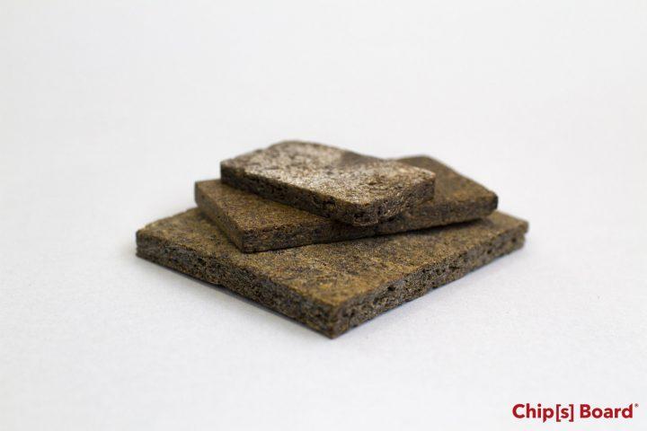 捨てるポテトの皮を利用した環境にやさしい新素材 「Chip[s] Board®」をロンドンのデザイナーが開発