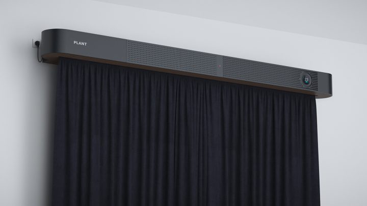 大気汚染を遮断するプロトタイピング 電動カーテン付き換気システム「PLANT」