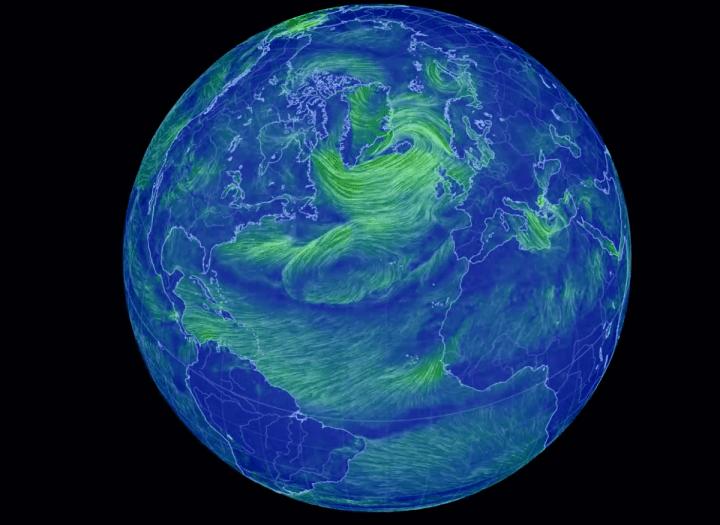 Cameron Beccarioによる風速データの可視化プロジェクト 「Earth wind map」 4K画質で2018年度を振り返る
